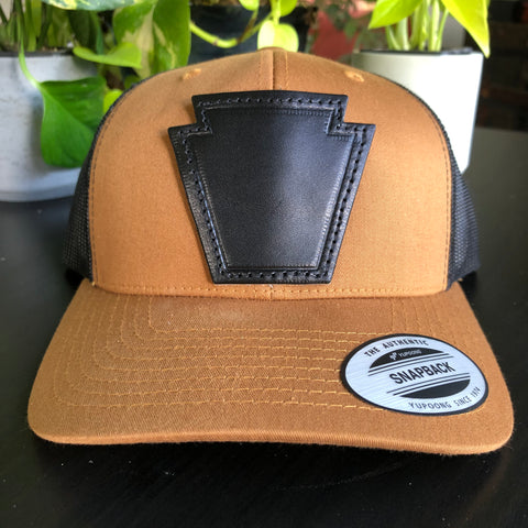 Keystone Leather Patch Hat - Camel/Black