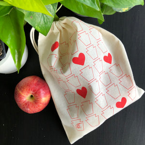 Keystones + Hearts Produce Bag