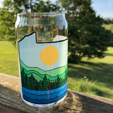 PA Sunshine Can Glass