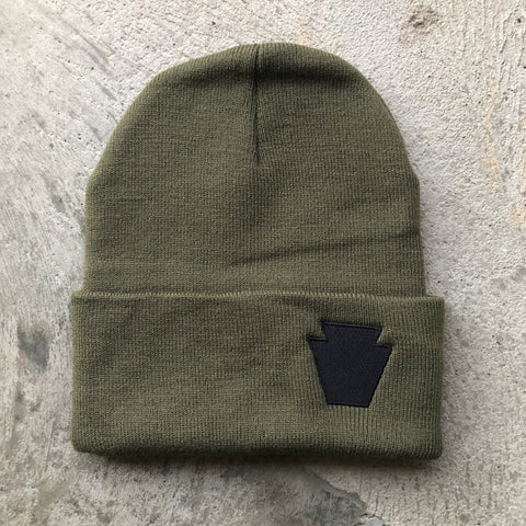 Keystone Embroidered Cuffed Beanie