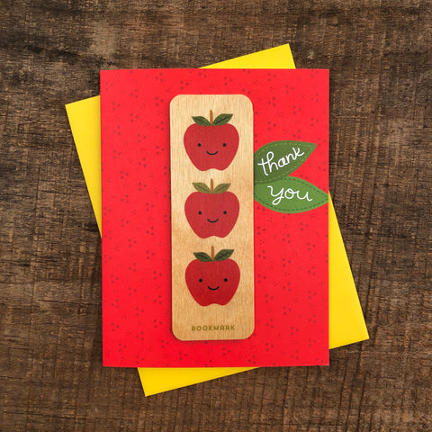 Thank You Apple Bookmark Card