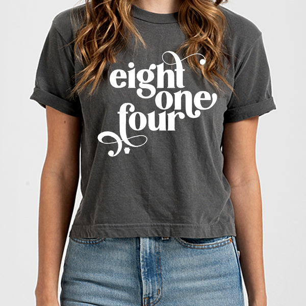 Eight One Four Retro Crop T-shirt