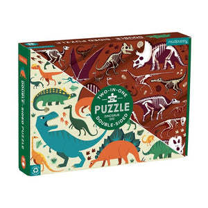 Dinosaur Doubled Sided 100 Piece Puzzle