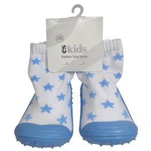Rubber soled socks - Blue star