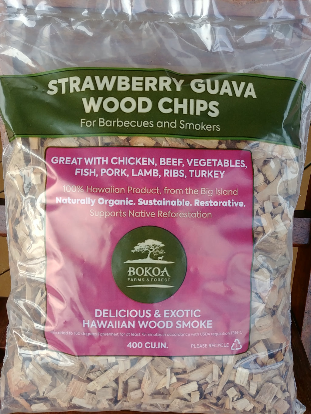 Strawberry Guava Wood Chips - 400 CU. IN.