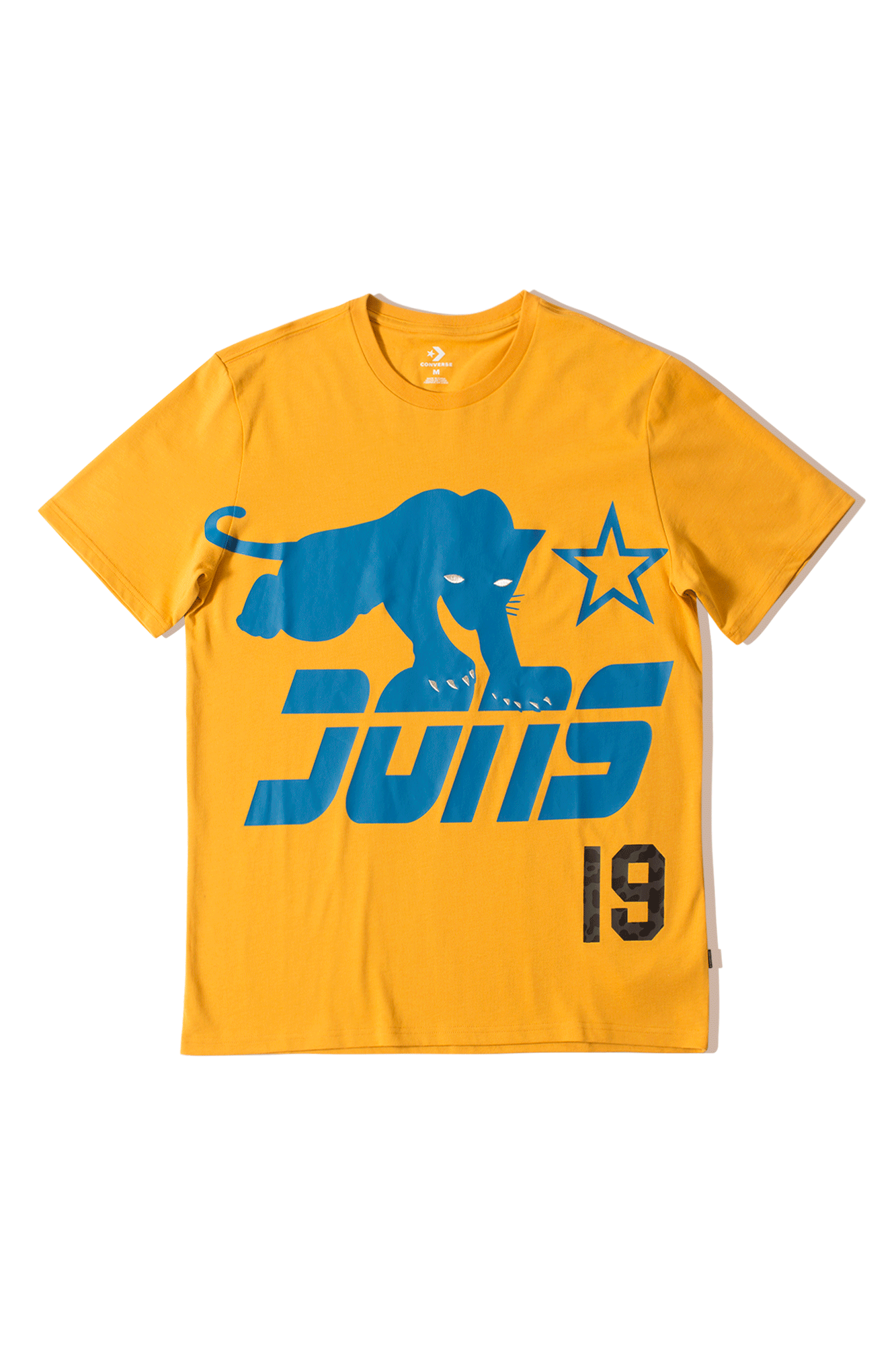 Converse T-Shirts Just Don Graphic Tee Giallo 10016960#YLW#AQUA#M - One Block Down