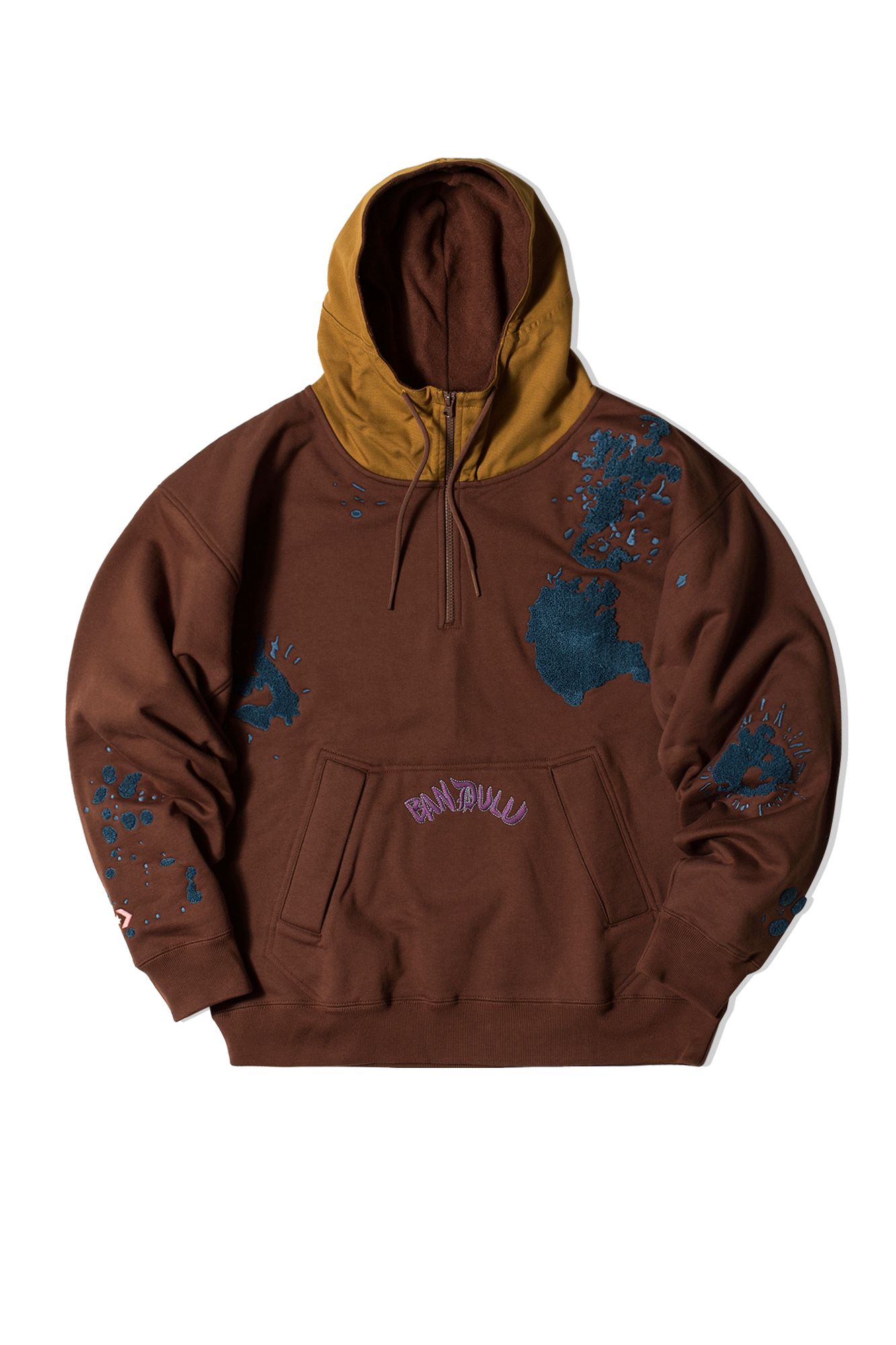 Hooded Sweatshirt x Bandulu Marrone