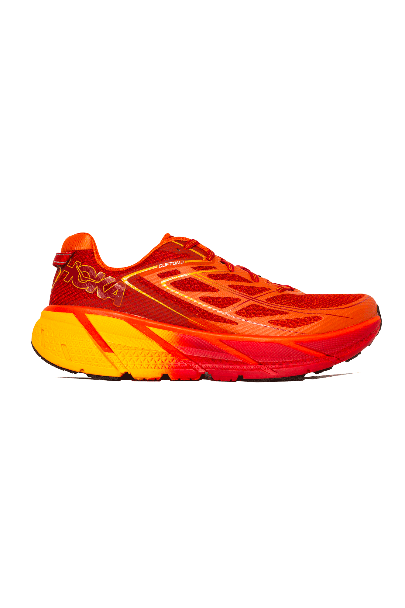 Hoka One One Trainers Clifton 3 Men's Rosso 101246RO#000#FOG#8 - One Block Down
