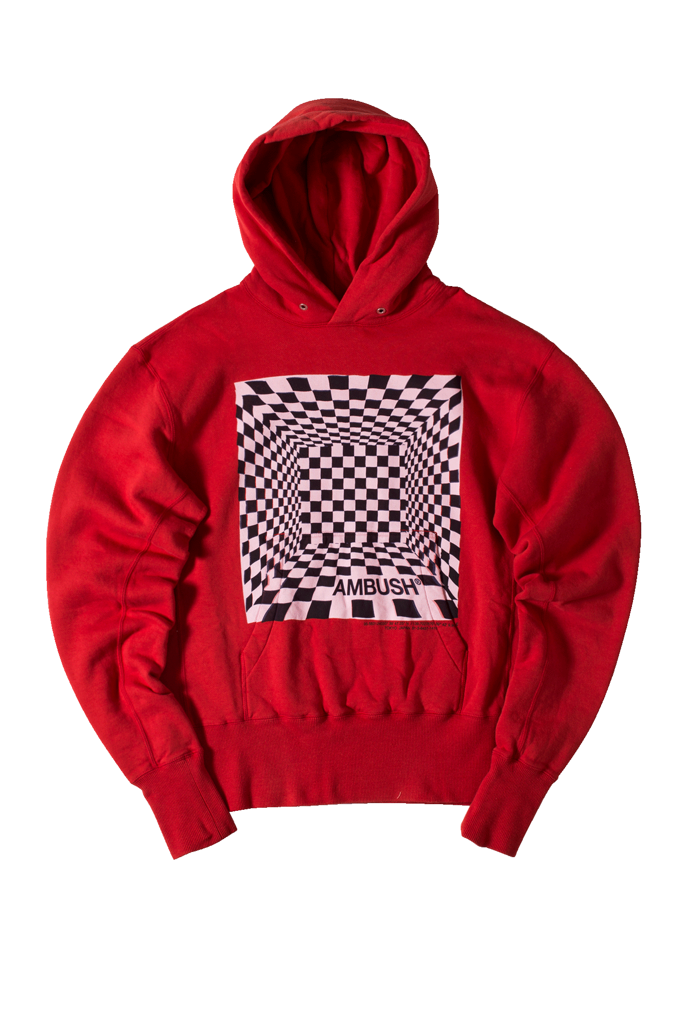 Short Hooded Sweatshirt Rosso