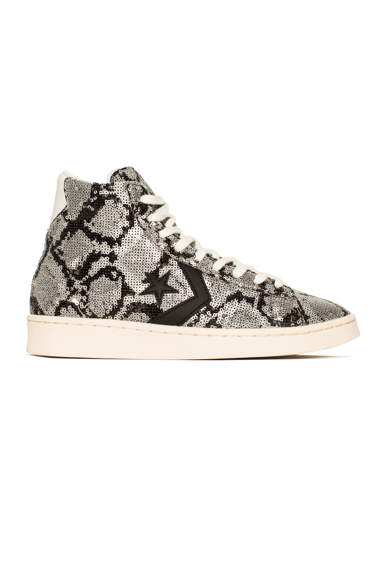 Pro Leather x Converse Snake Argento
