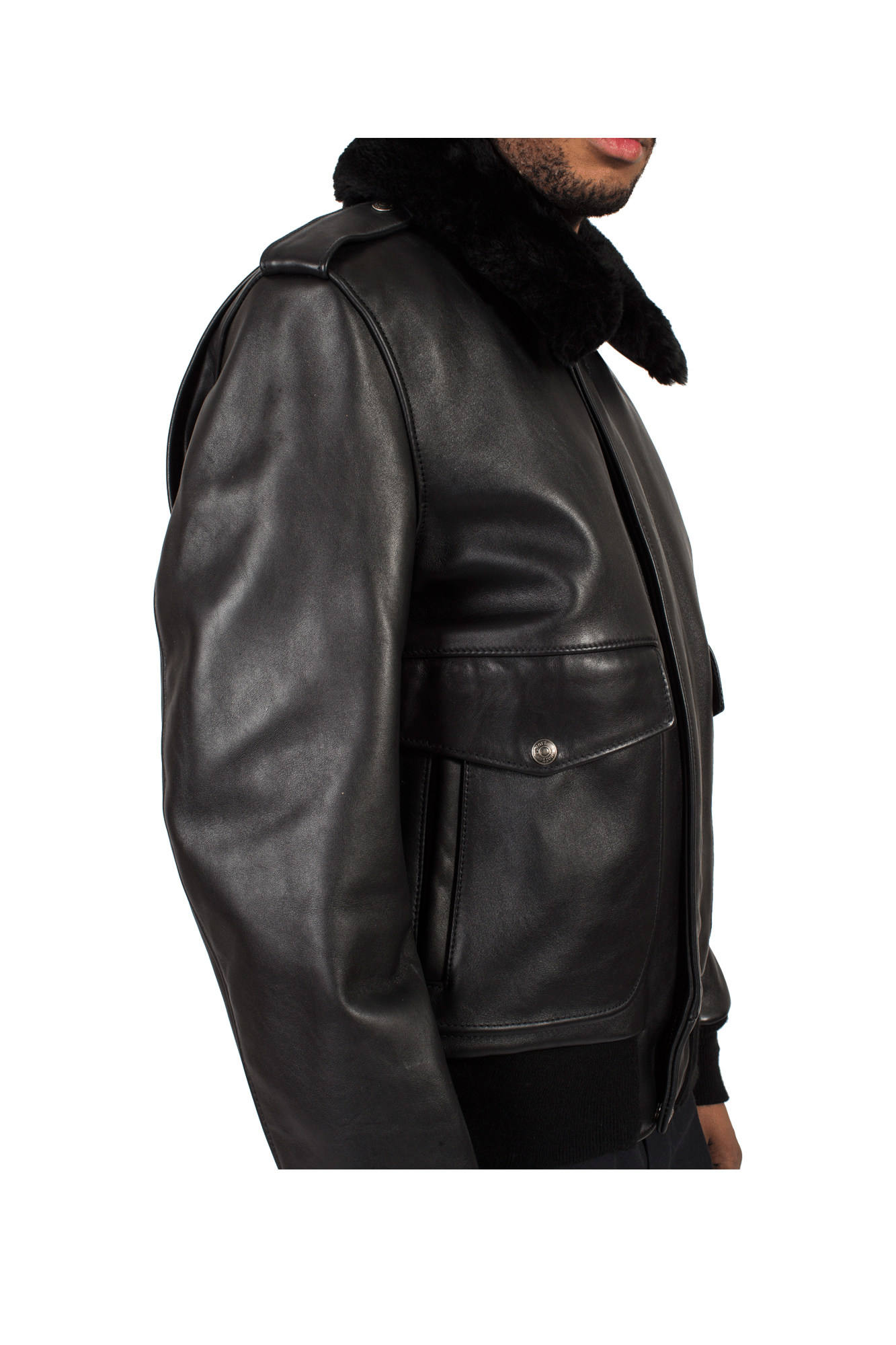 Schott Giacche & Cappotti A-2 Naked Cowhide Leather Flight Jacket Nero 184SMBLACK#000#BLACK#36 - One Block Down
