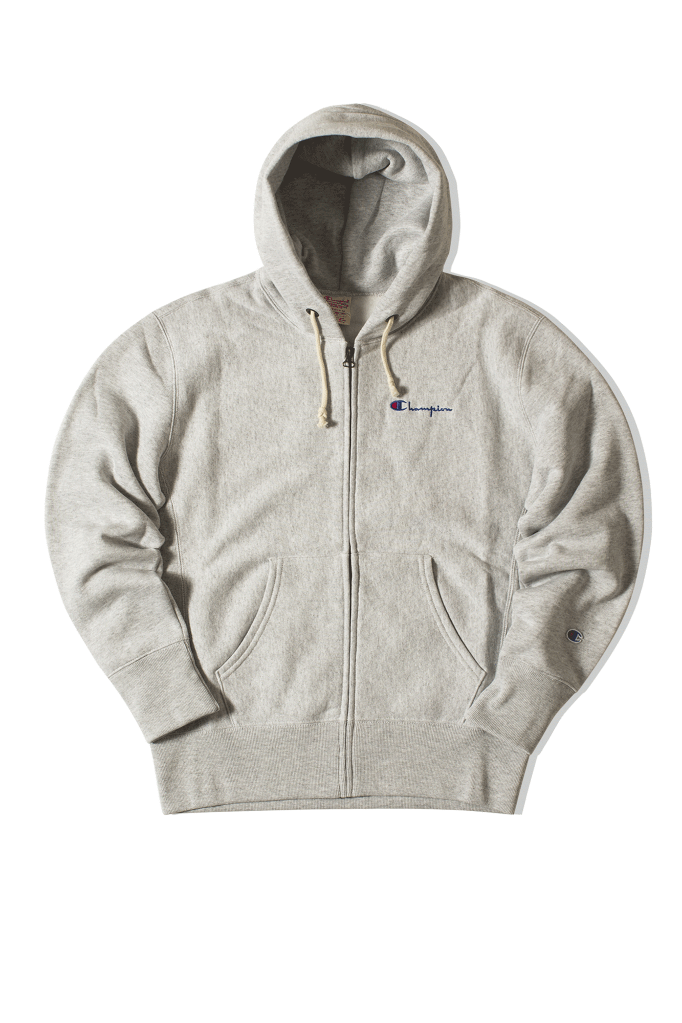 Hooded Zip-up sweatshirt Grigio