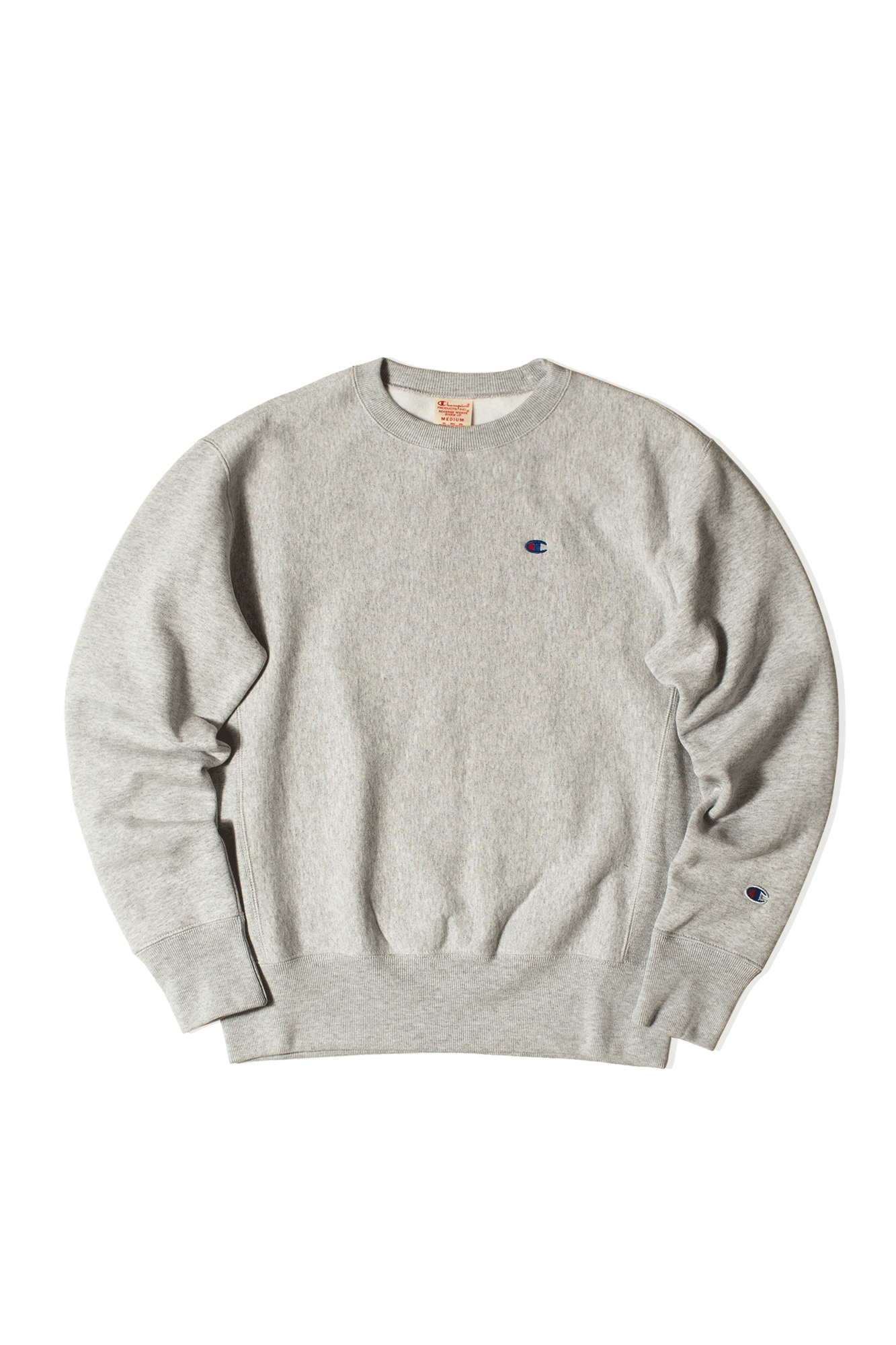 Champion Felpe girocollo Crewneck Sweatshirt Grigio 214676#000#EM004#M - One Block Down