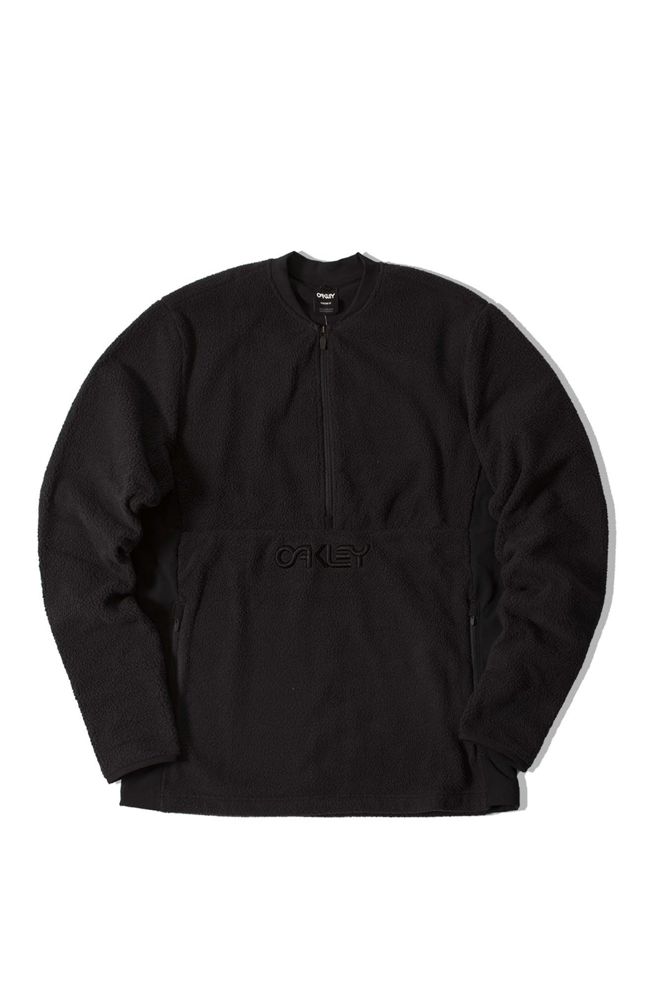 Fluffy Half Zip Jacket Nero