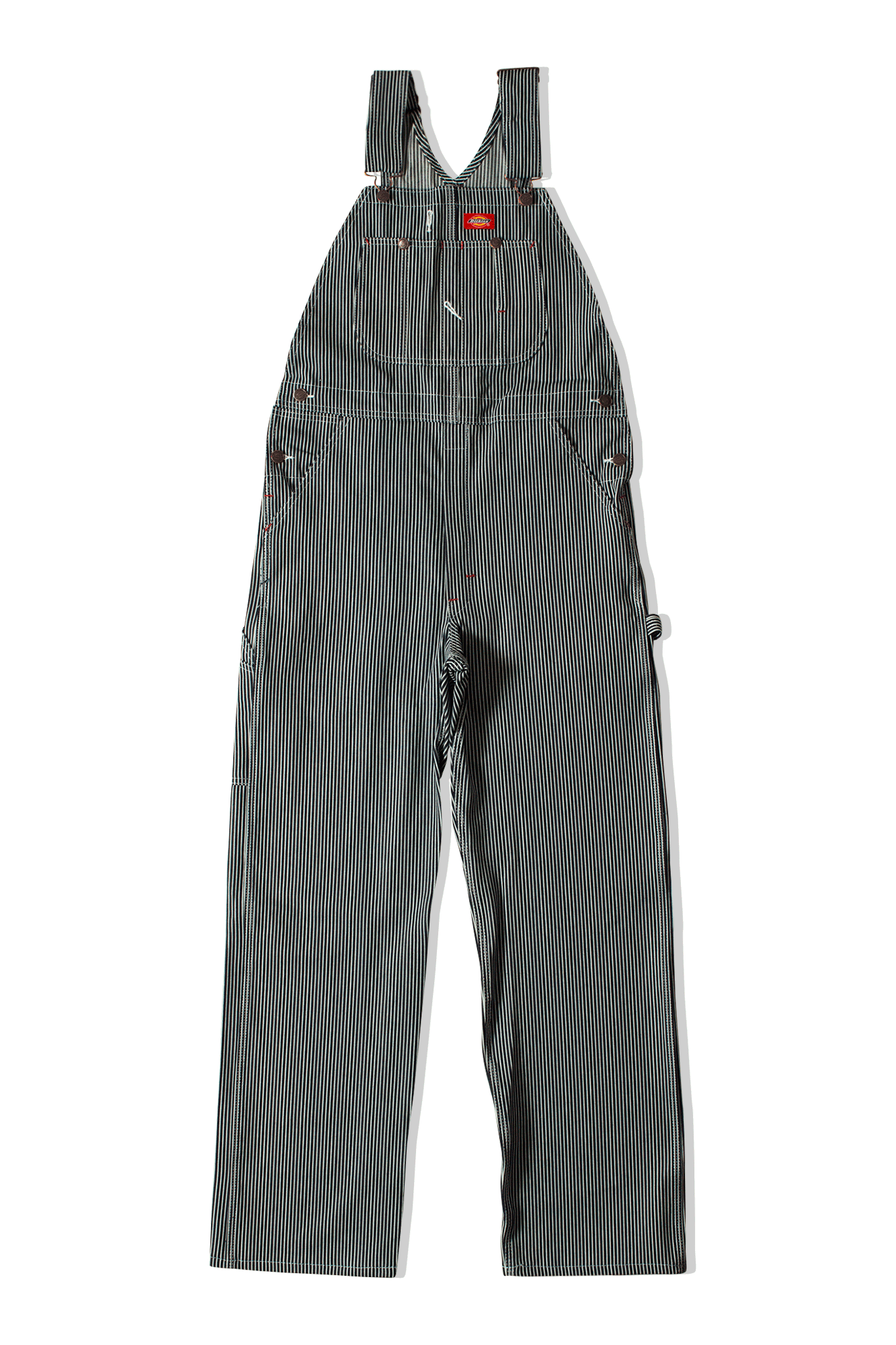 Dickies Salopette Hickory Bib Overall Blu 681190067#000#C0007#27 - One Block Down
