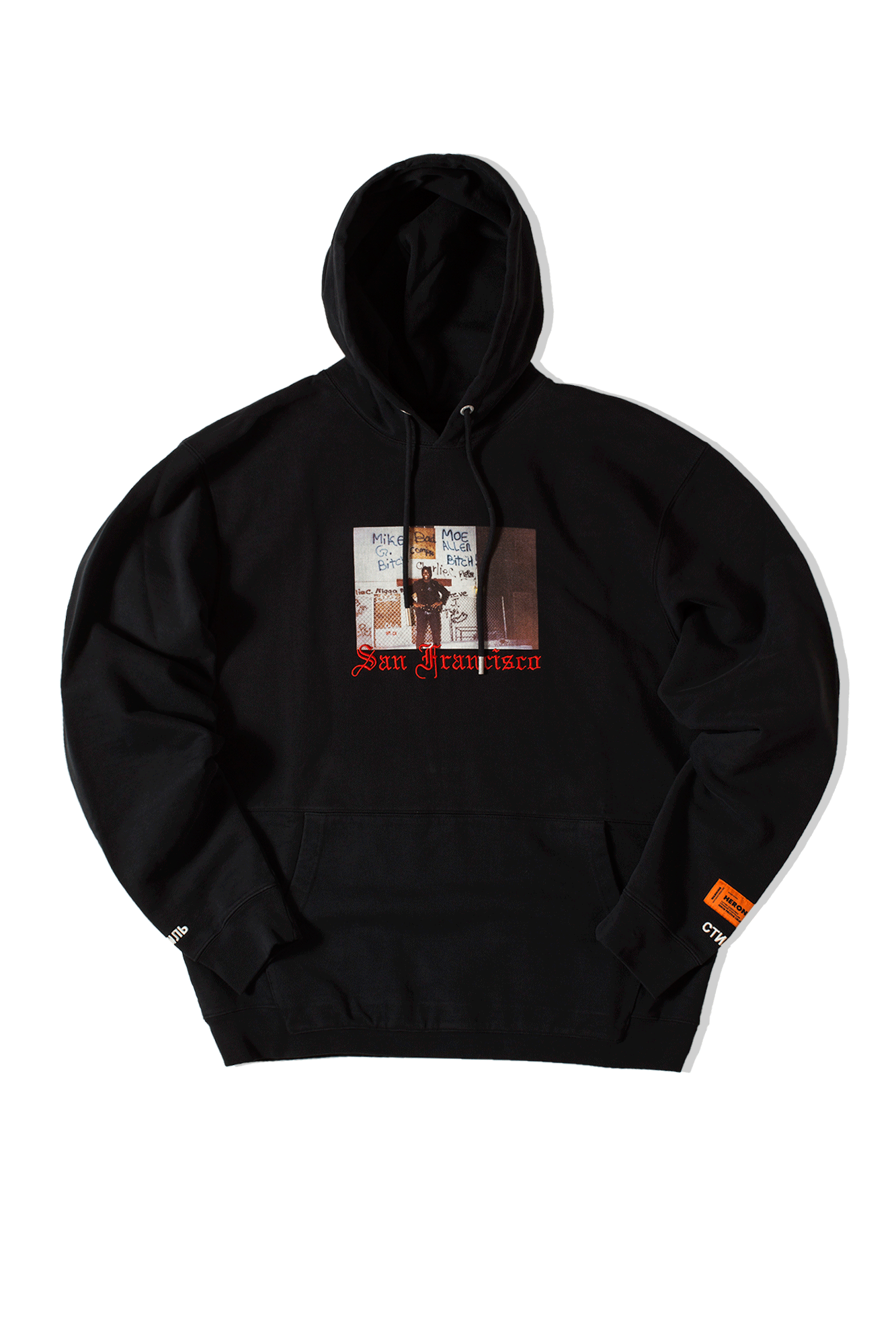 Heron Preston Felpe Cuts Heron dad Hoodie Nero 8090281088#Cotton#BLK#M - One Block Down
