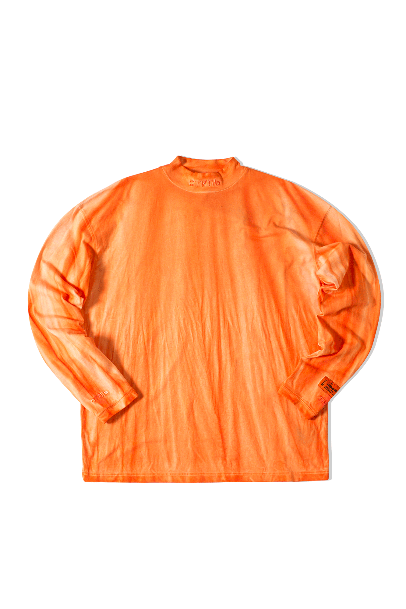 CTNMB Turtleneck Long Sleeve T-Shirt Arancione