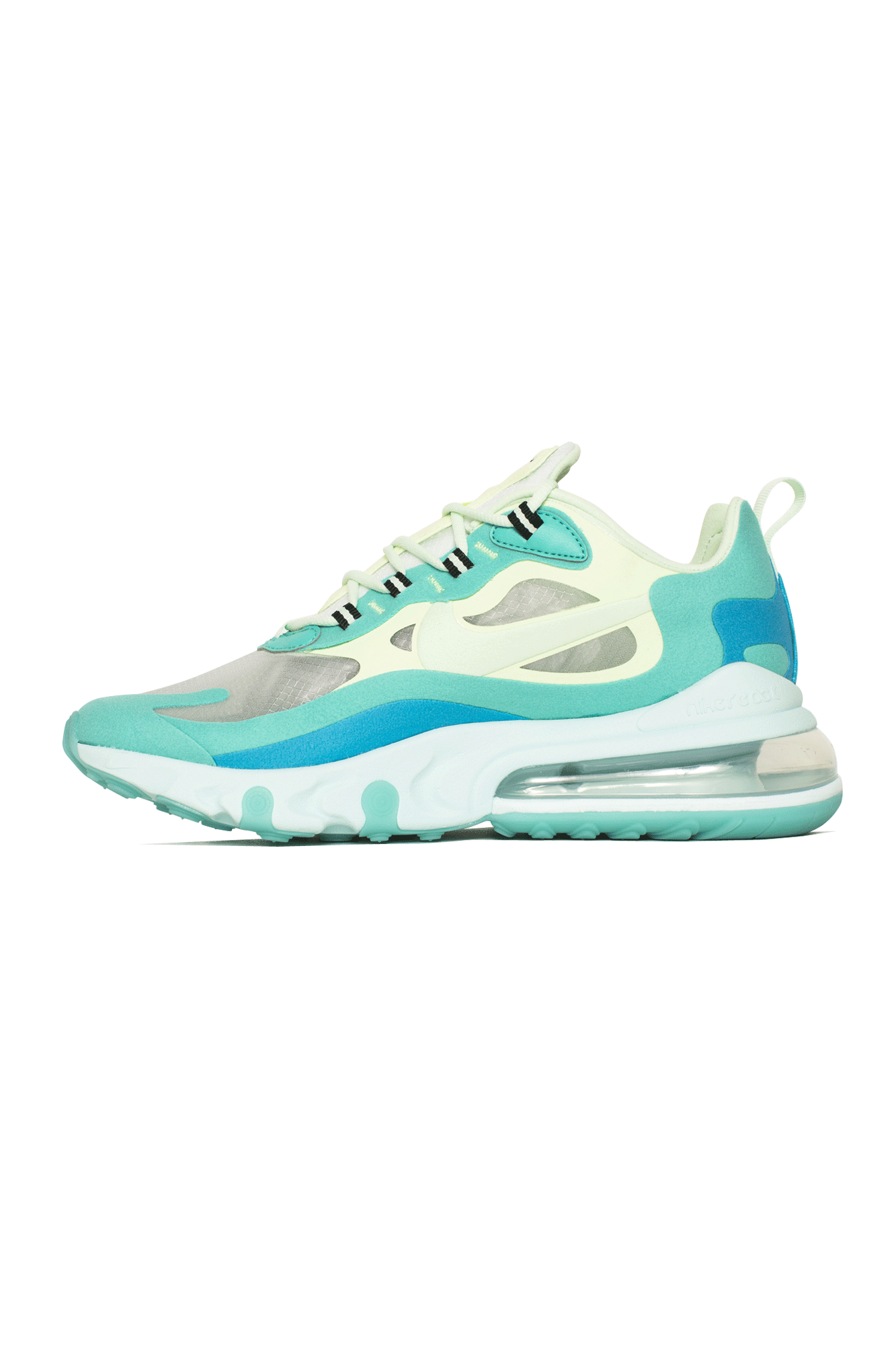 Air Max 270 React Sneaker in Green. Size 6 (also in 6.5,7,7.5).