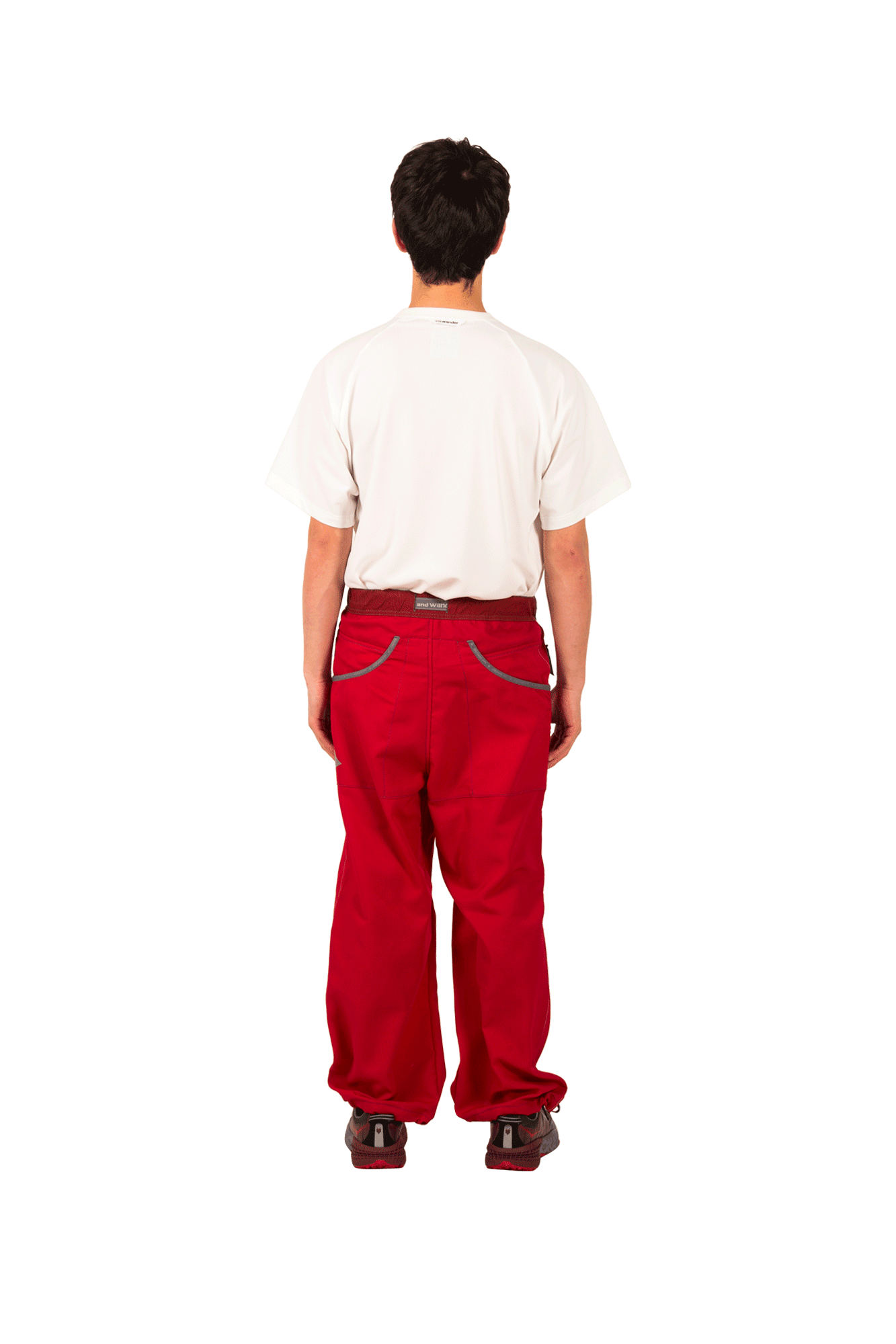 And Wander Pantaloni Vent Pants Rosso AW91-FF039#000#RED#3 - One Block Down
