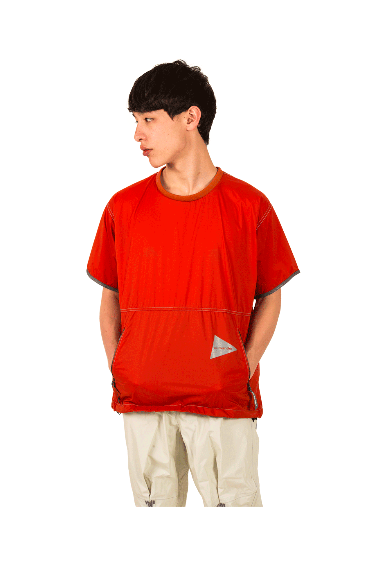 And Wander T-Shirts Pertex Wind Tee Arancione AW91-FT626#000#ORA#0 - One Block Down