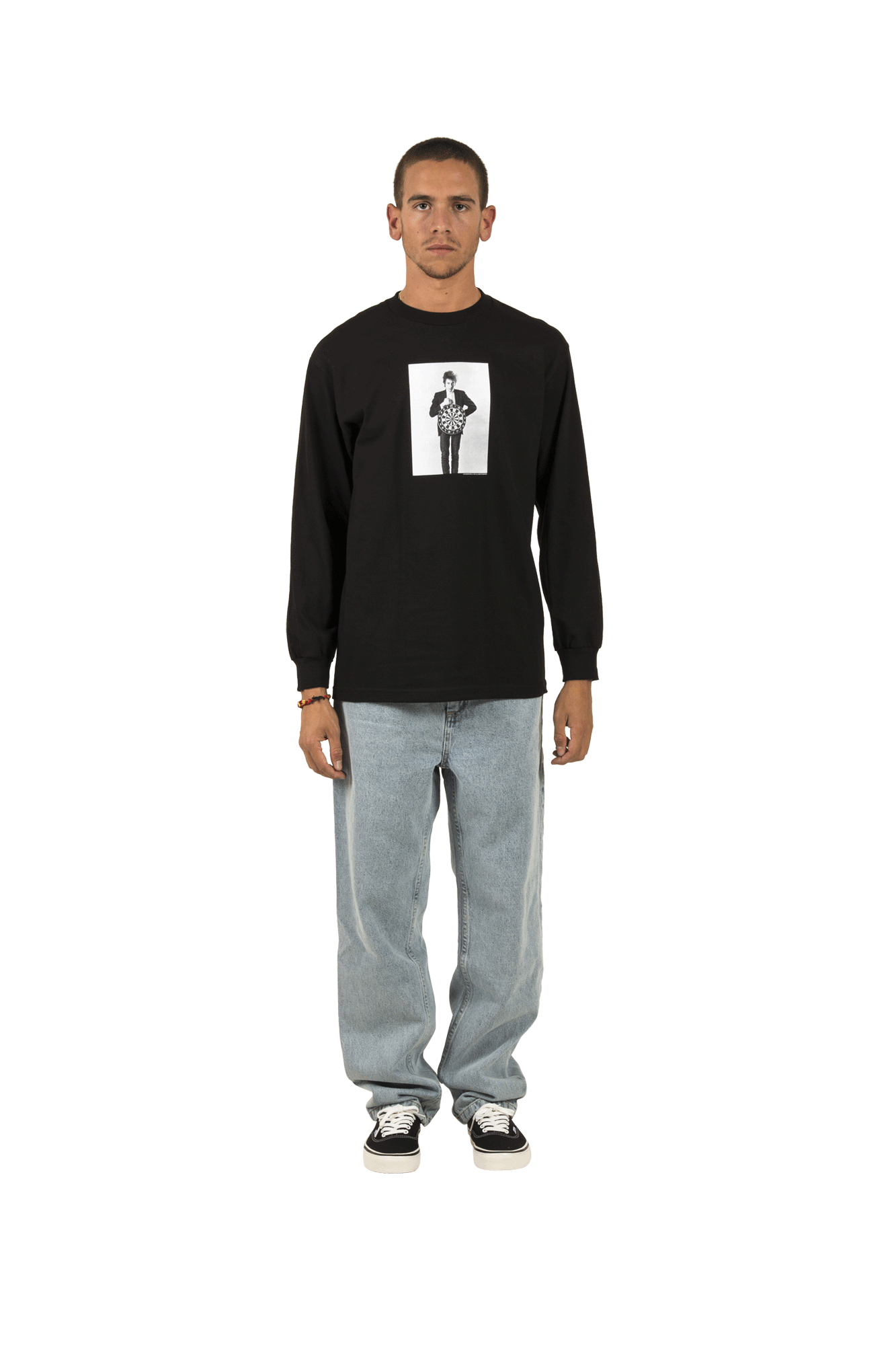 Bob Dylan Darts Long Sleeve T-Shirt Nero
