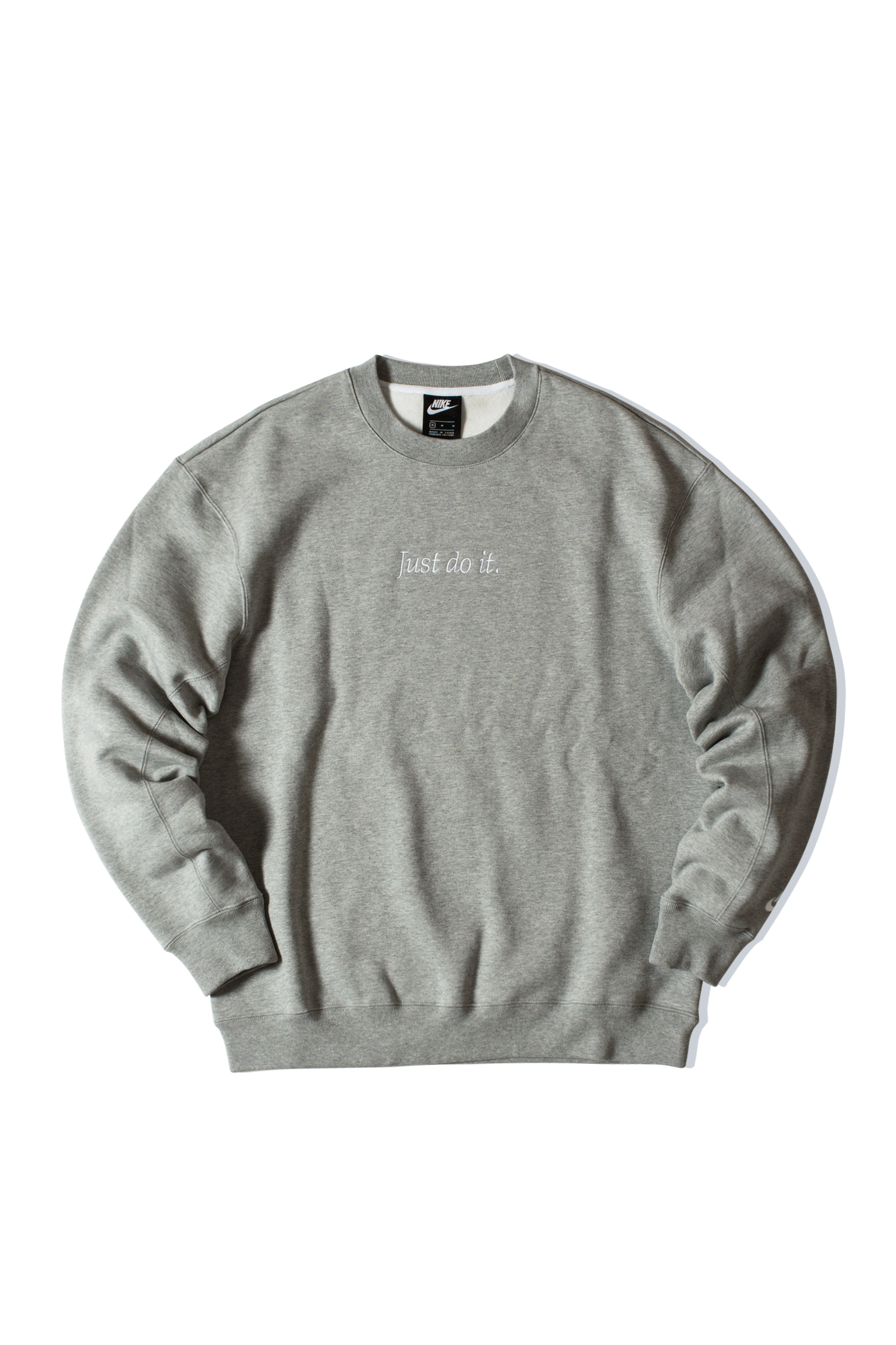 Just Do It Crewneck Grigio