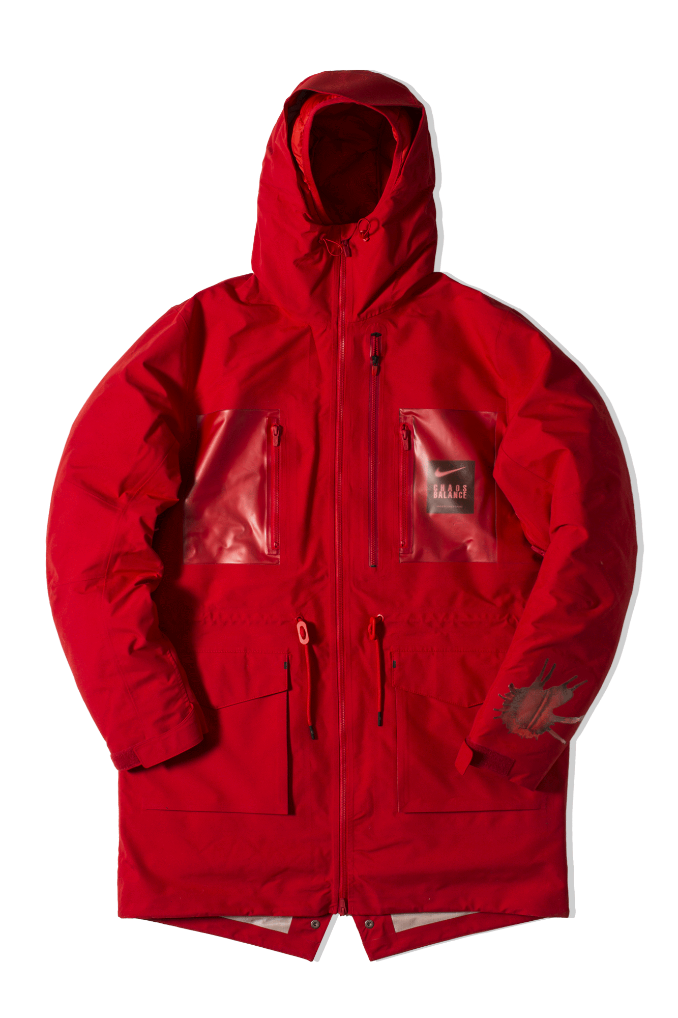 M NRG Undercover Parka Rosso
