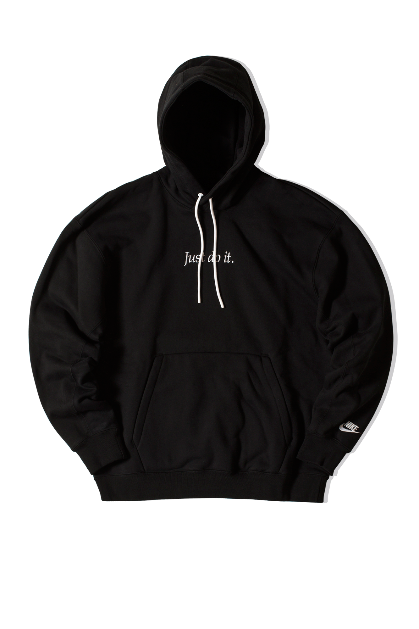 Just Do It Fleece Hoodie Nero