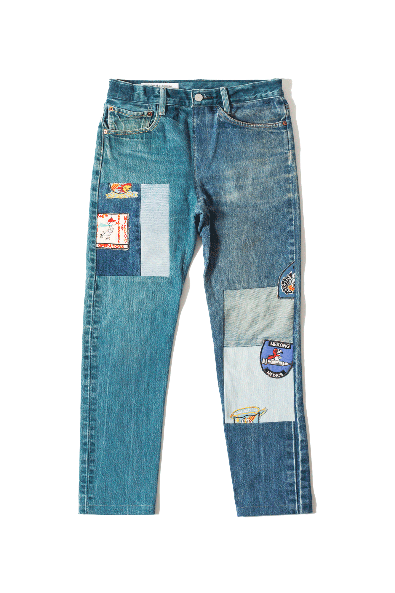 Children Of The Discordance Jeans Denim Pants Vintage Fabric Blu COTDNY#PT301#NAVY#0 - One Block Down