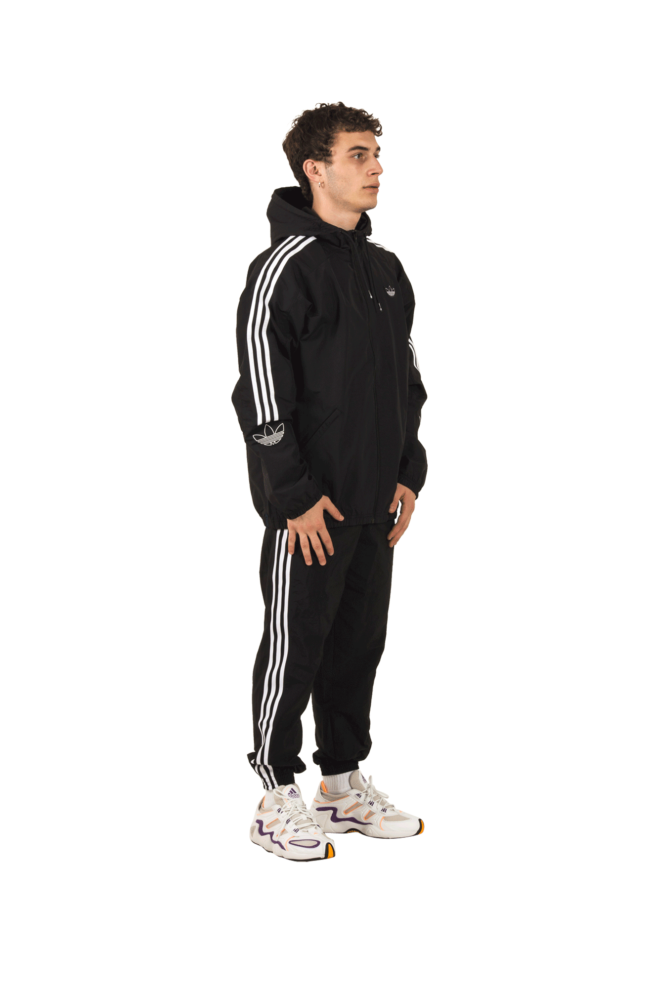 Adidas Originals Felpe Outline TRF WB Jacket Nero ED4688#000#Black#S - One Block Down