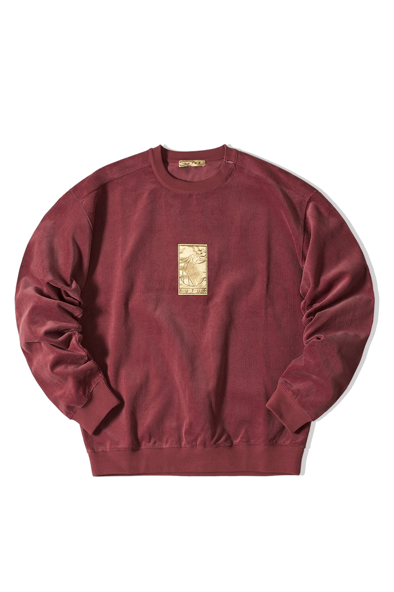 01 GOLD CORD G FIT CREW Rosso