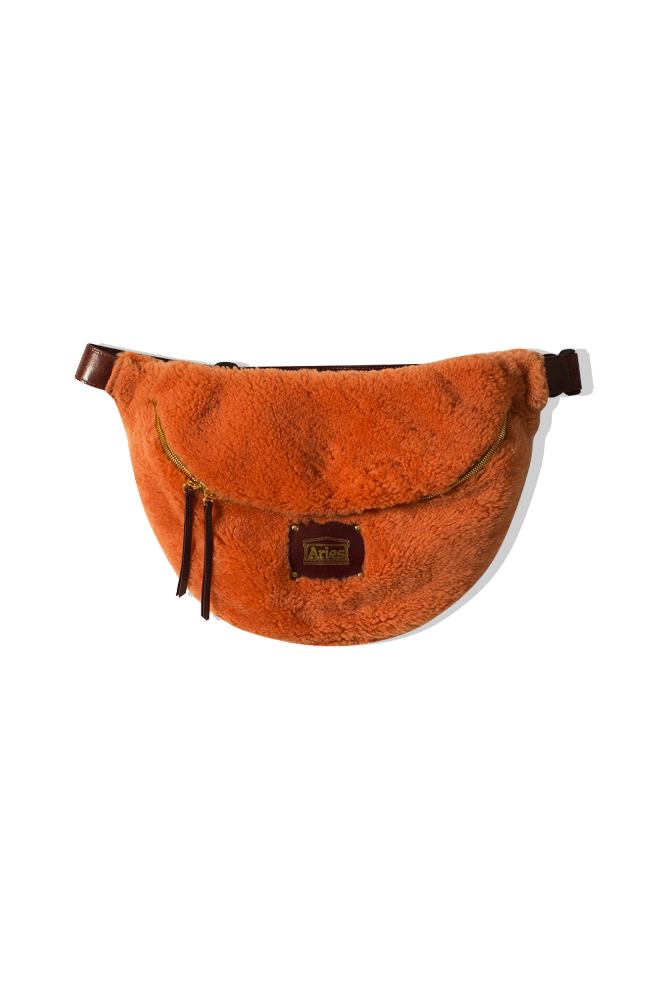 ELIS SHEEPSKIN BAG Arancione