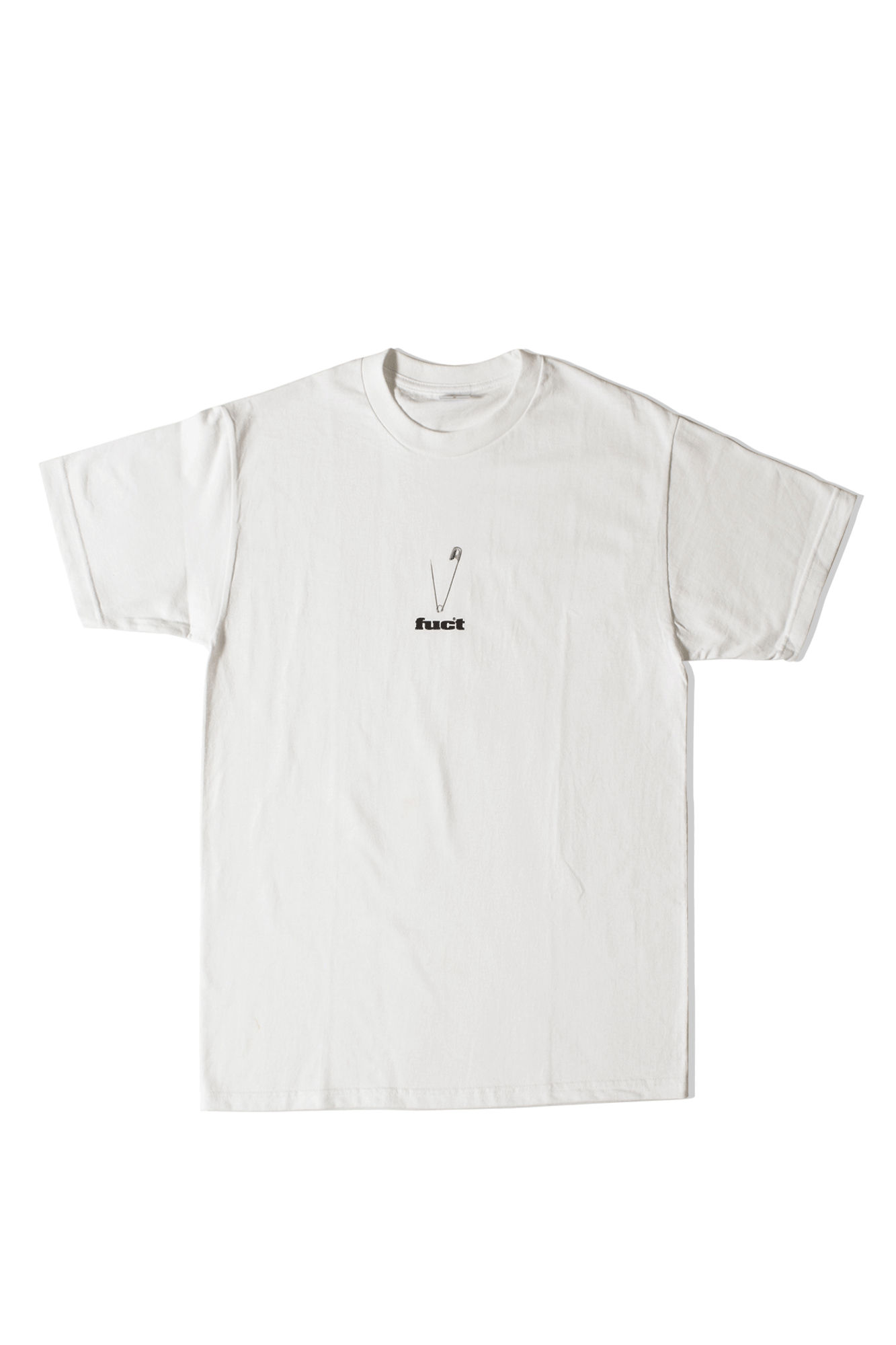 SAFETY PIN T-SHIRT Bianco
