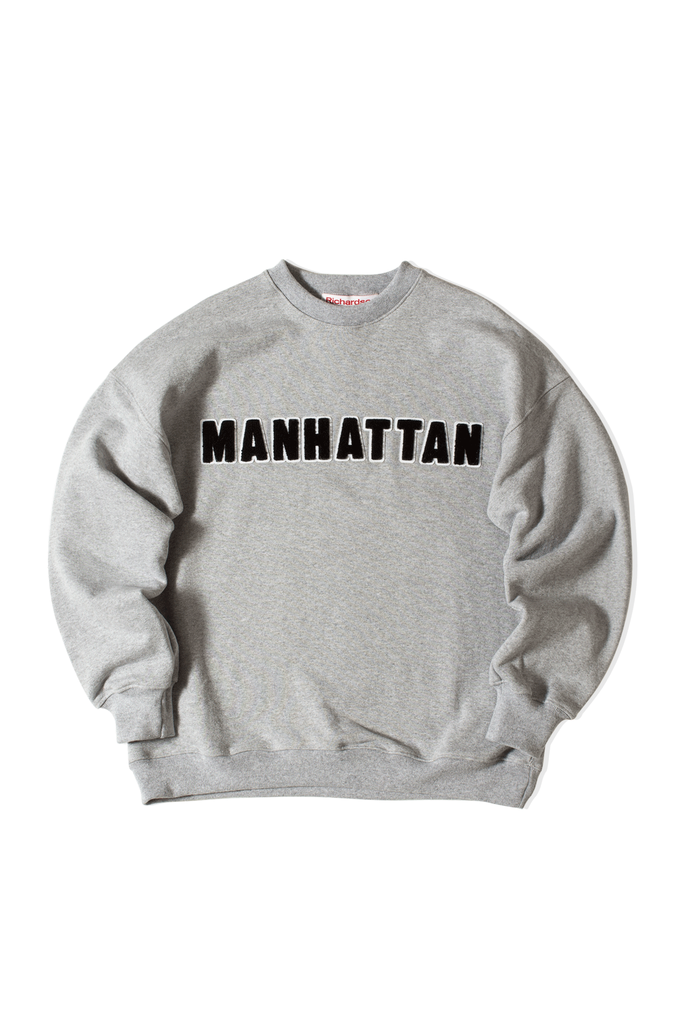 Richardson Mag Felpe girocollo District Crewneck Grigio FW20042#000#MNTGRY#M - One Block Down