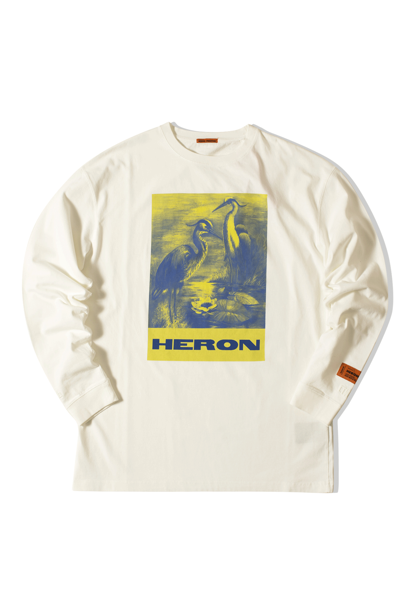 Heron Preston T-Shirts Reg T-shirt LS Heron Paint Bianco HMAB005F19#6000080288#C0006#S - One Block Down