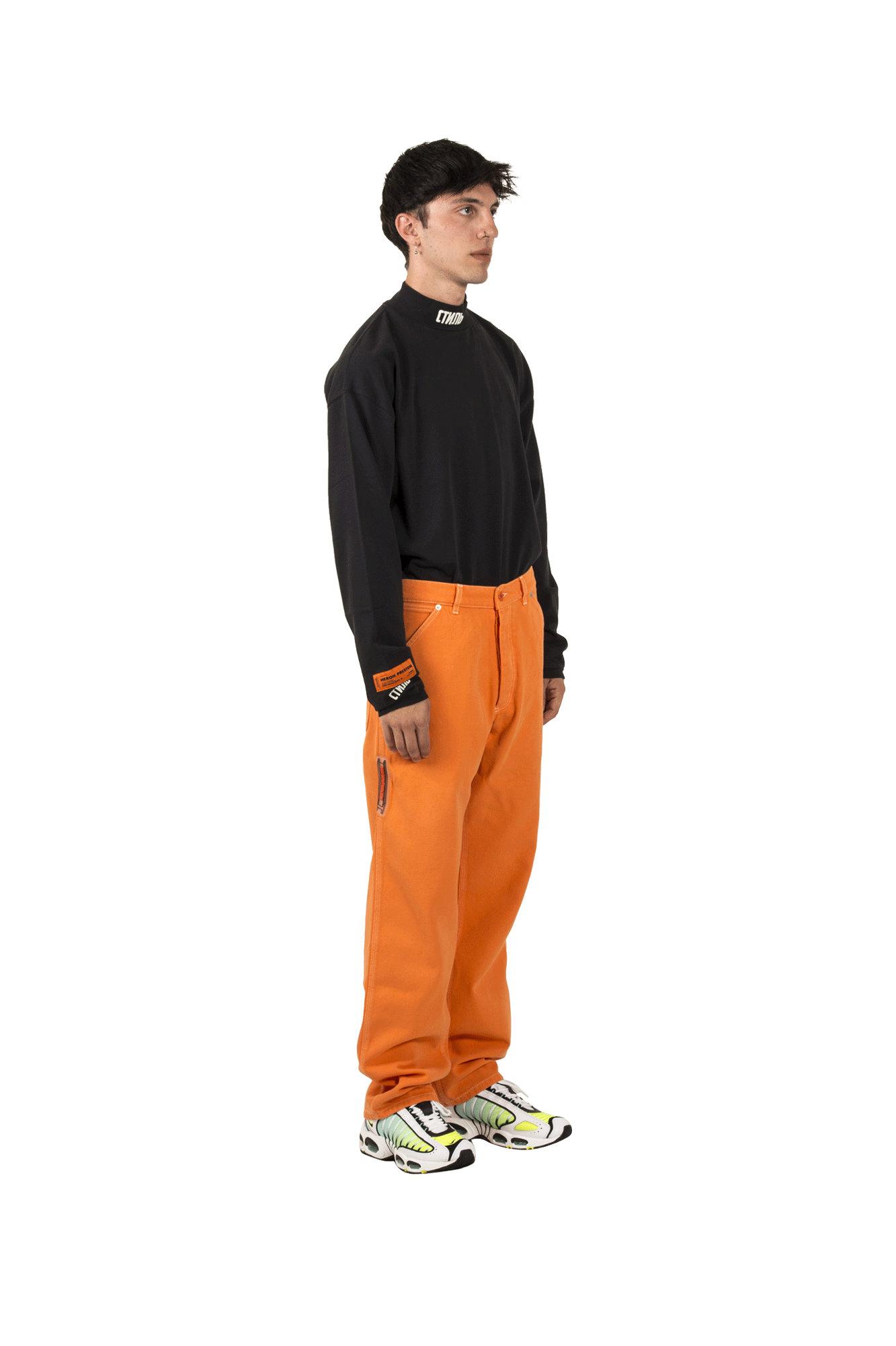 Heron Preston Pantaloni Uniform Pants Canvas Multicolore HMYB002F19#800013-#1788#M - One Block Down