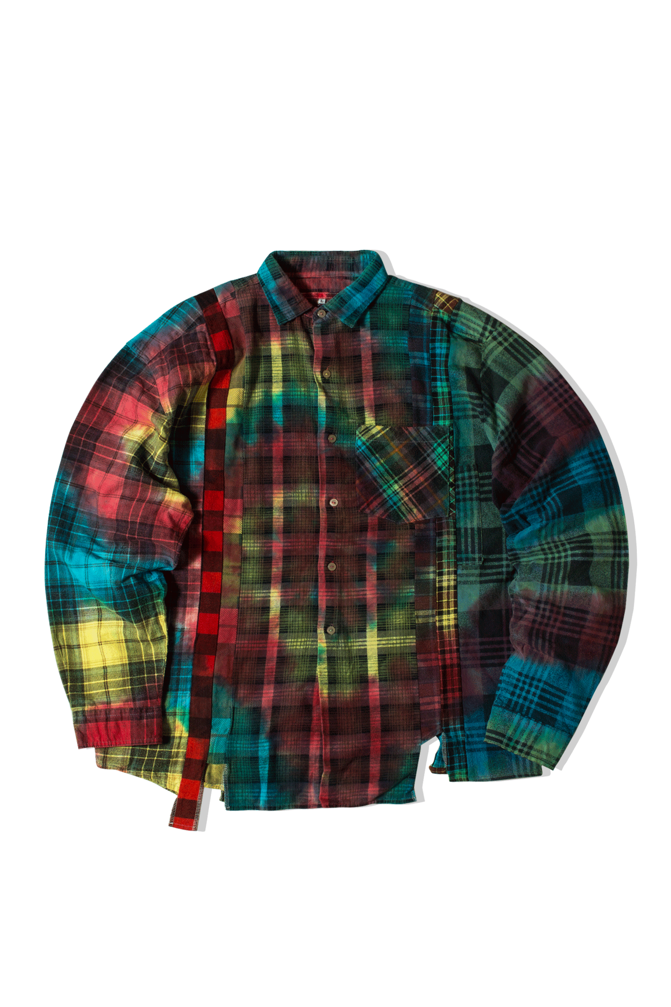 Tie Dye 7 Cuts Flannel Shirt Multicolore
