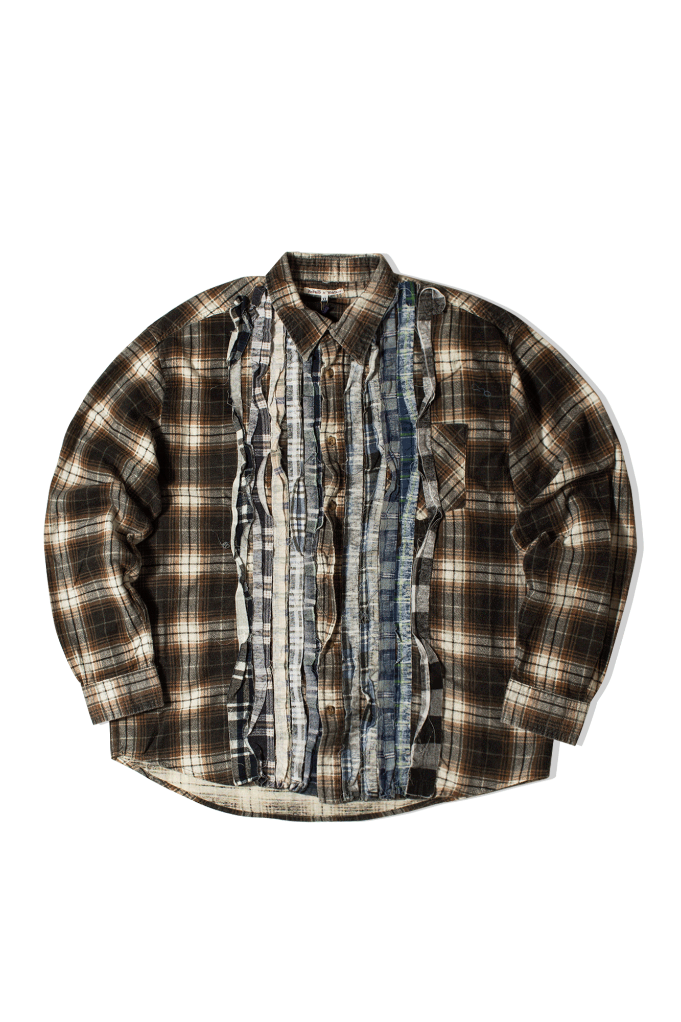 Ribbon Flannel Shirt Multicolore