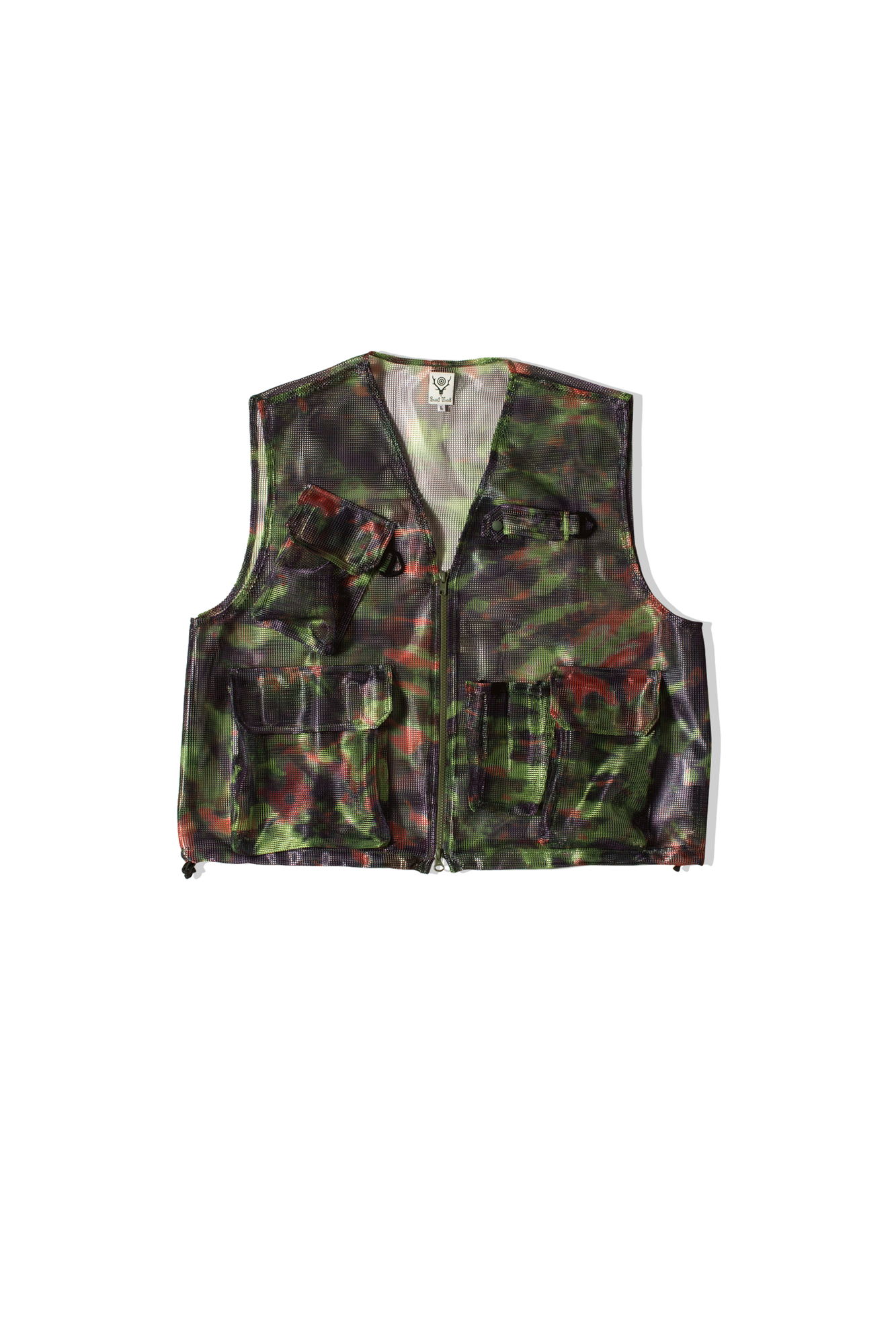 South2 West8 Gilet Bush Trek Heavyweight Mesh Vest Multicolore IN796#000#TIEDYE#M - One Block Down