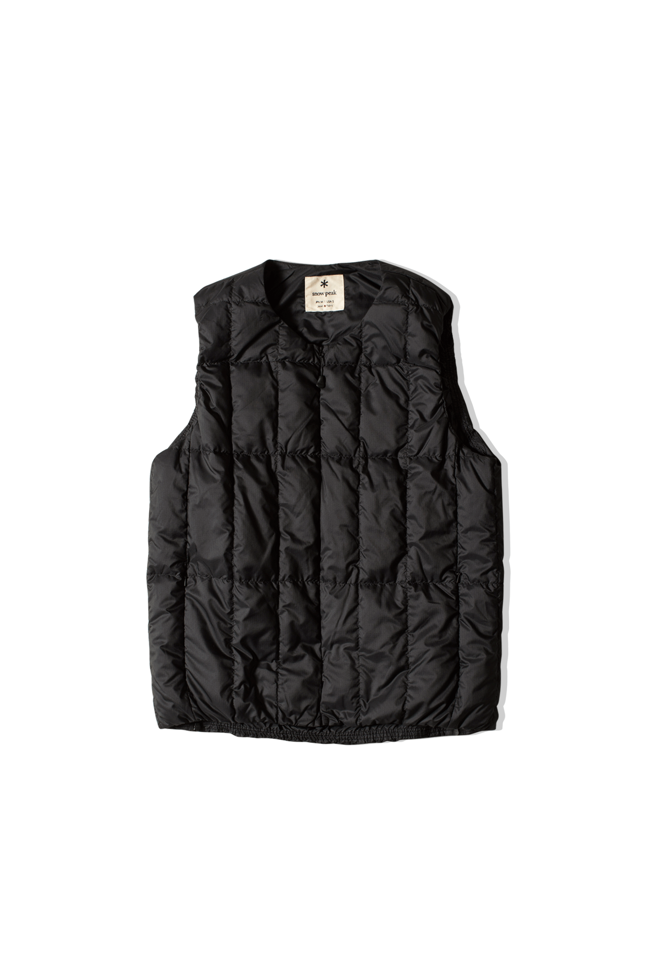 Recycled Middle Down Vest Nero