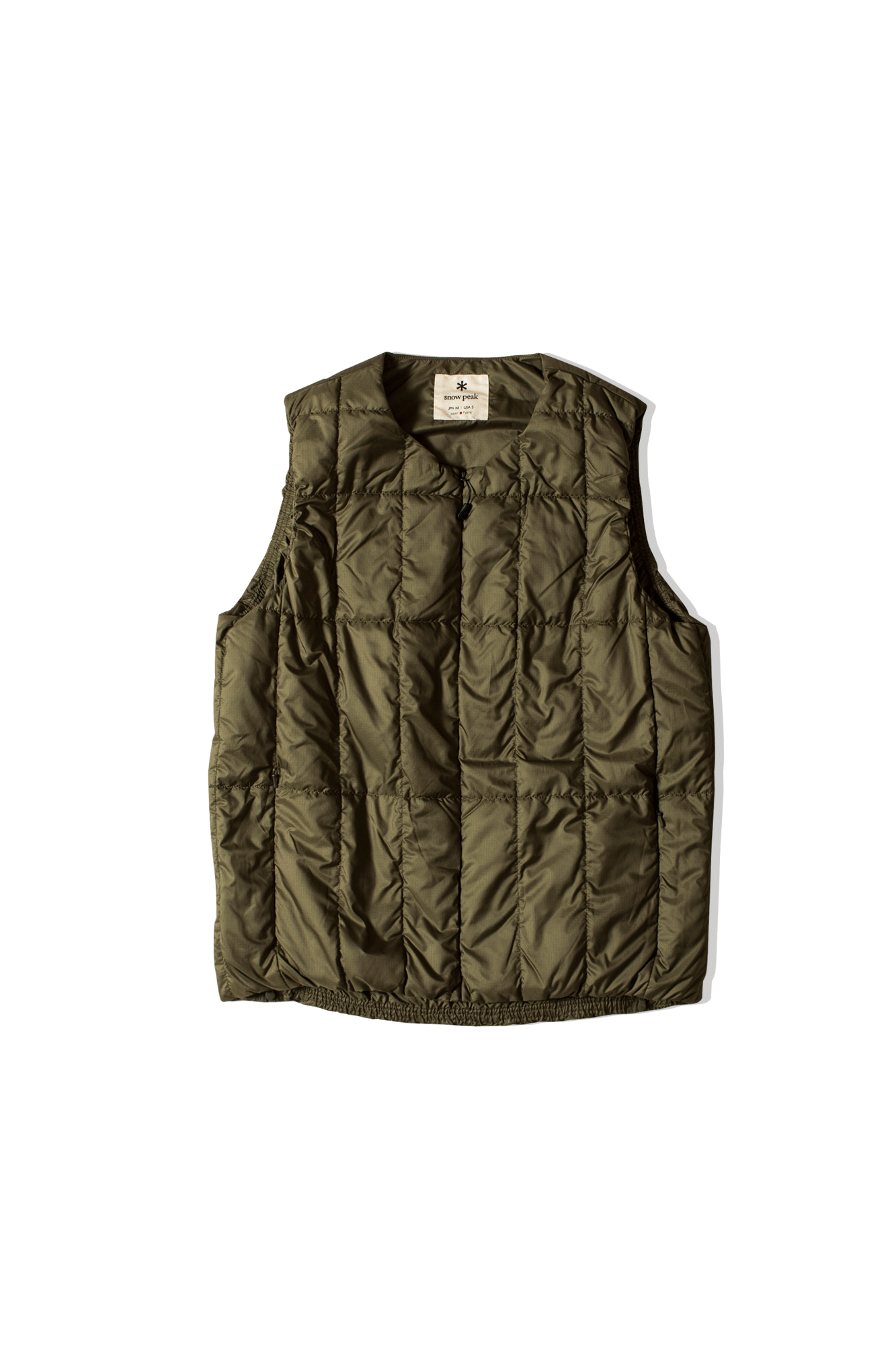 Recycled Middle Down Vest Verde