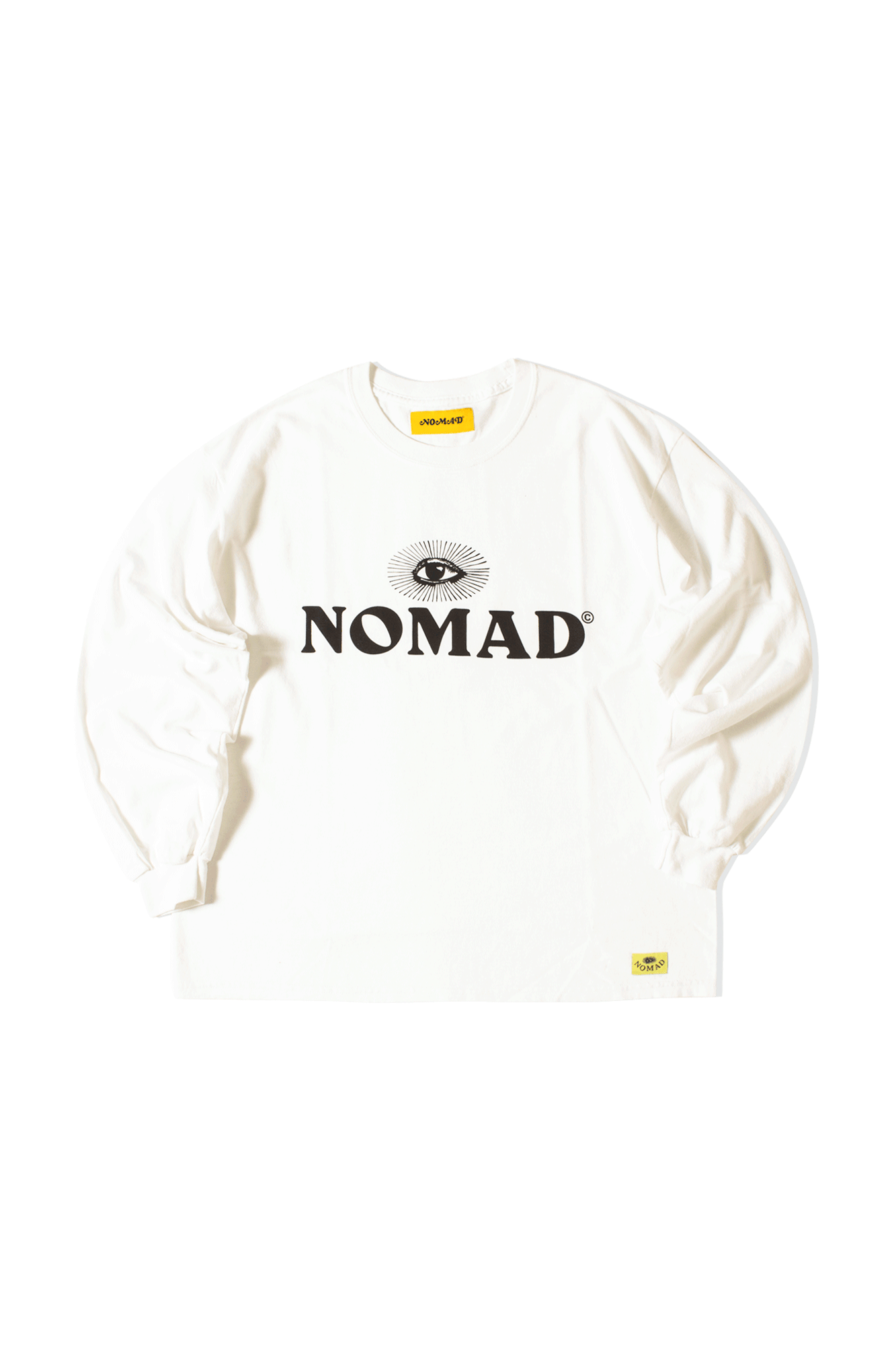 Long Sleeve T-Shirt Logo Bianco