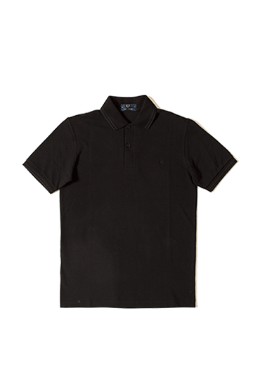 Twin Tipped Fred Perry Shirt Nero