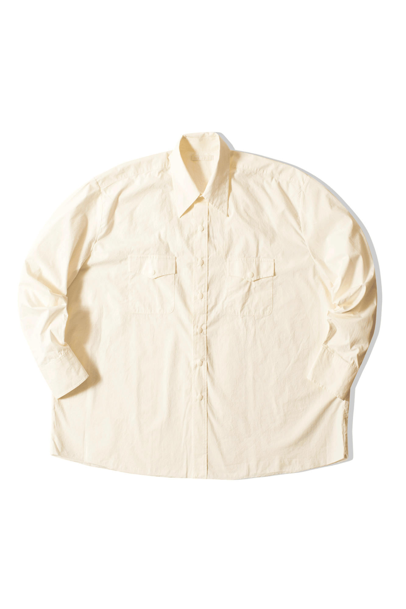 OUR LEGACY Camicie Overshirt Egg White Parachute Cotton Bianco [option2] - One Block Down