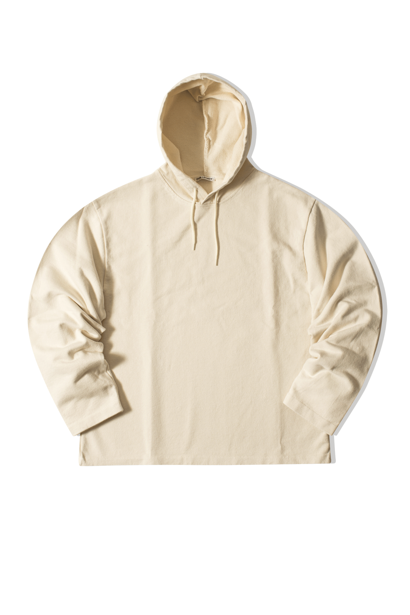 Loose Hooded sweatshirt Bianco