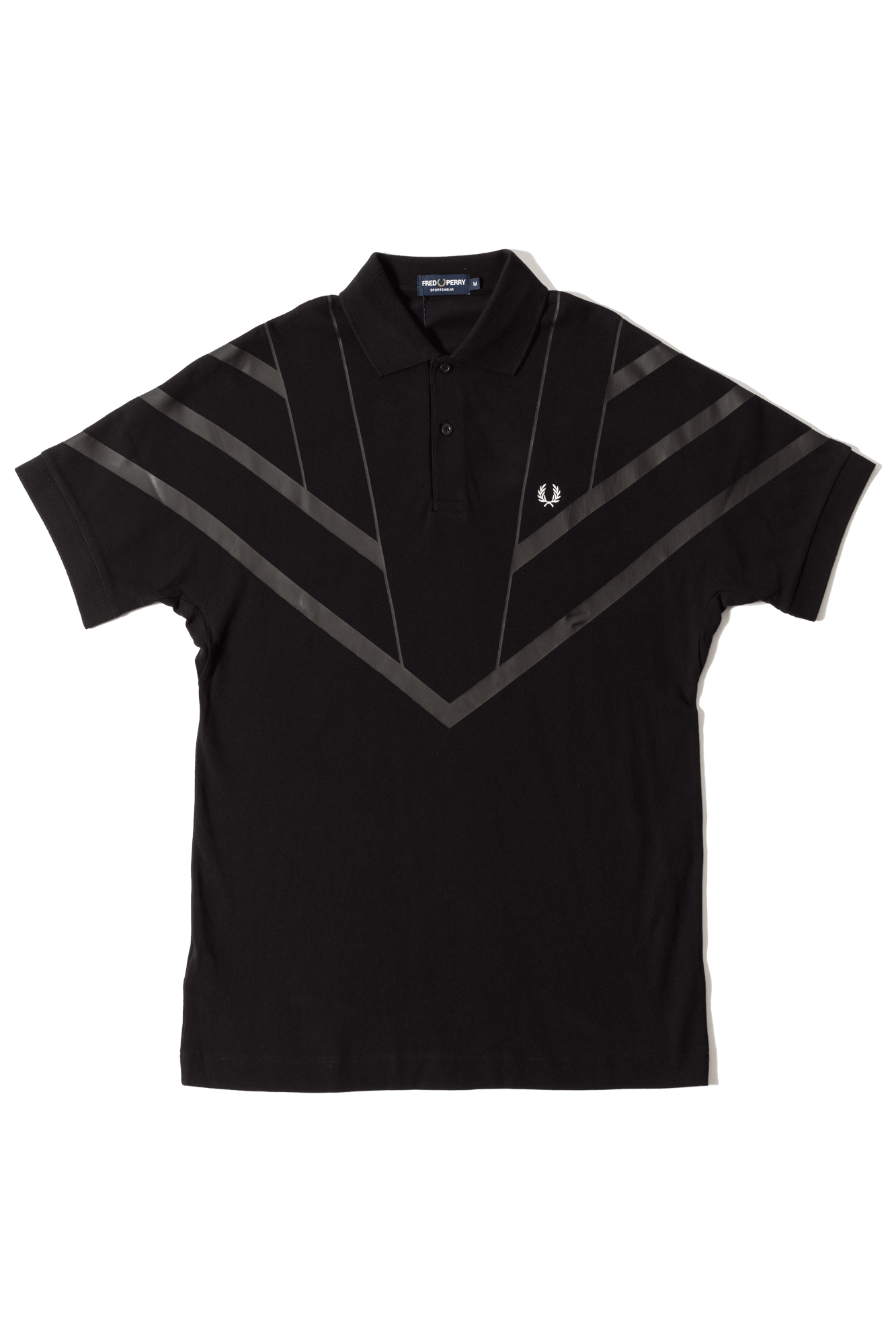 Fred Perry Polo Monochrome Pique Shirt Nero M4550102#000#C0010#XS - One Block Down
