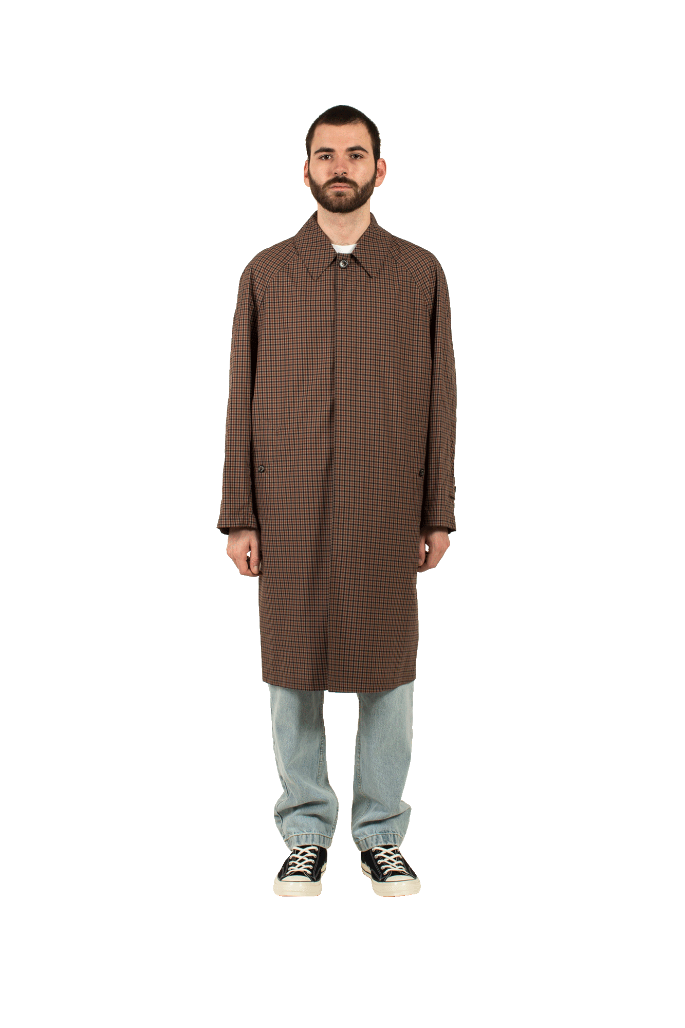 Dunans GM-10438 Trench Coat Marrone