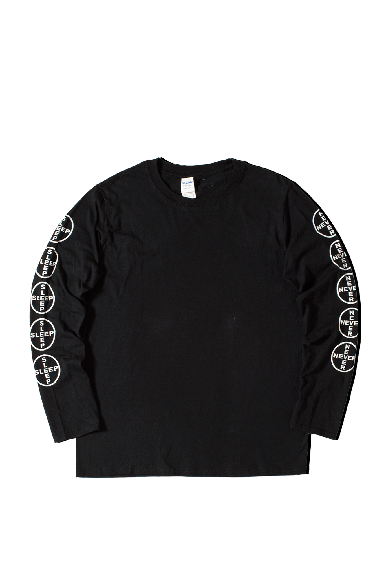 Never Sleep Long Sleeve T-Shirt Nero