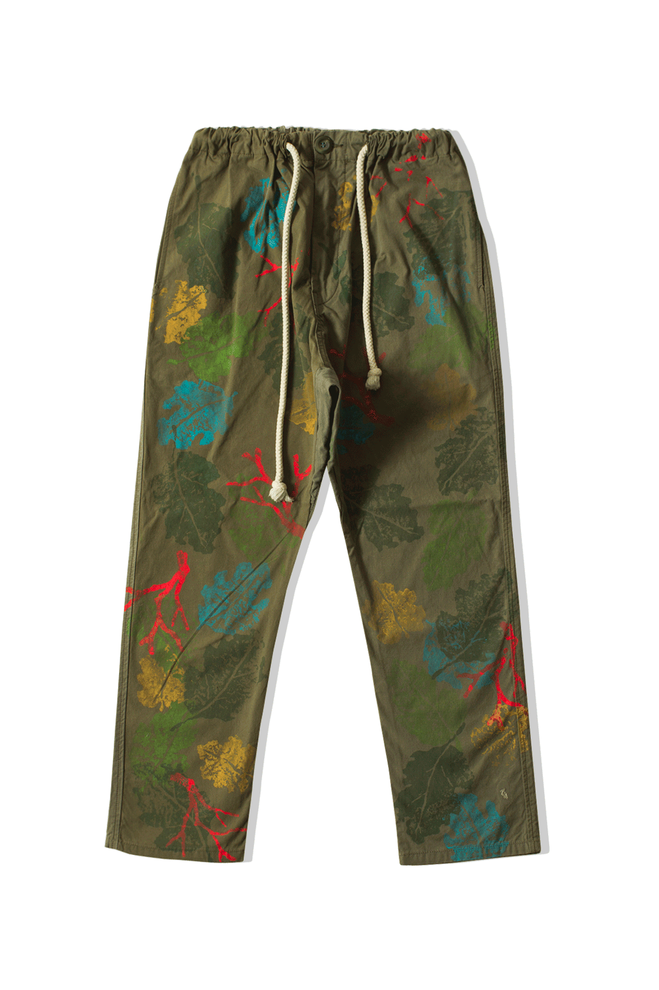 Camo Hand Painted Pants Verde