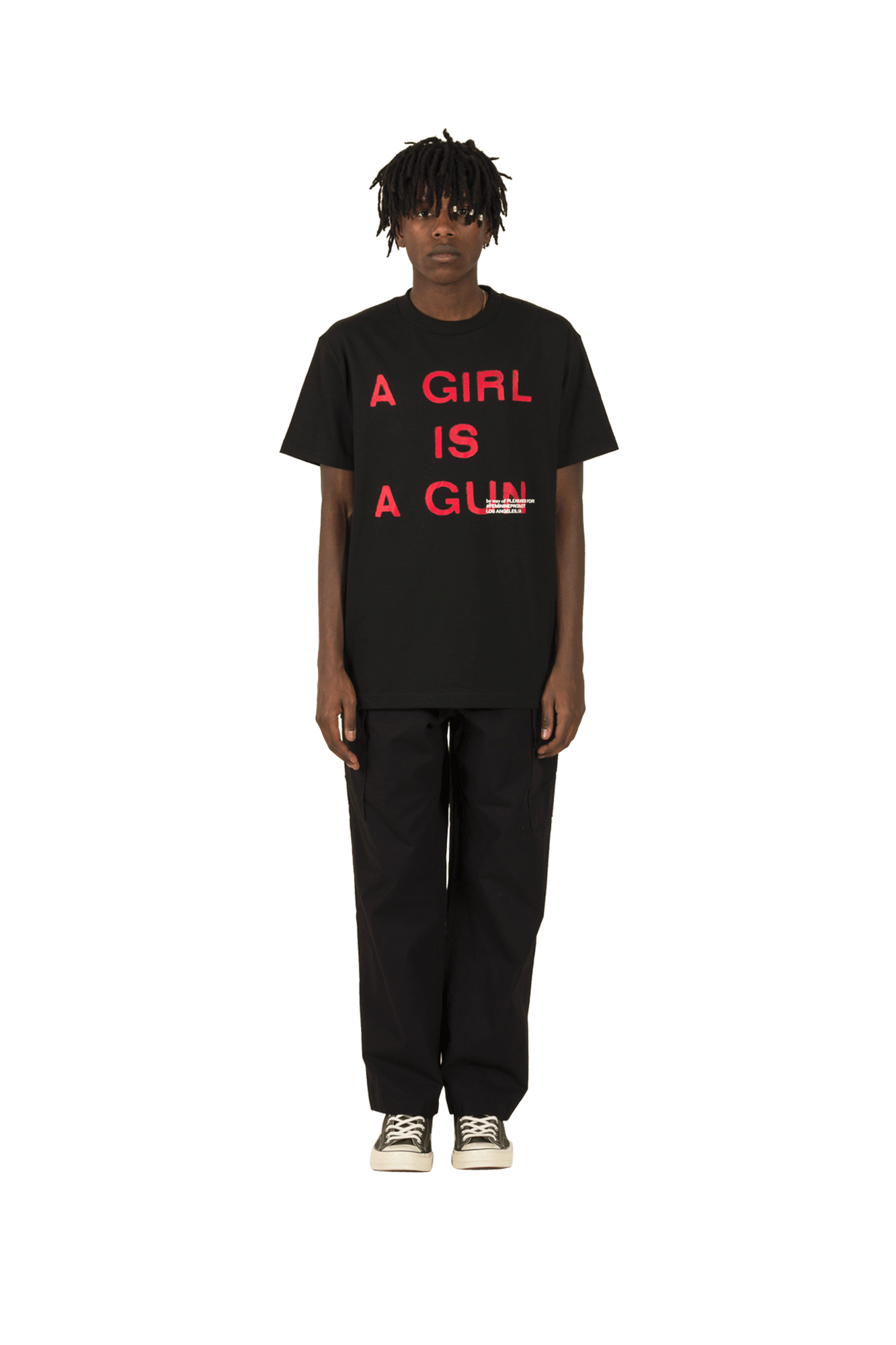 Pleasures T-Shirts GIRL IS A GUN T-SHIRT Nero P17F101047#000#BLK#M - One Block Down